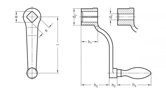 Korby żeliwne DIN 468 - rysunek techniczny