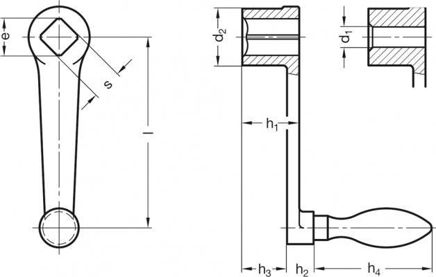 Korba DIN 469-200-V19-F - rysunek techniczny