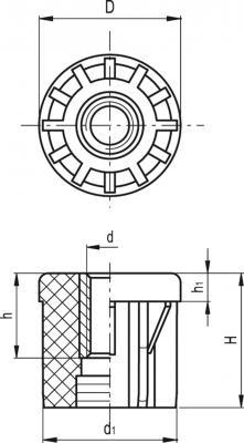 Zaślepki do profili okrągłych NDX.T