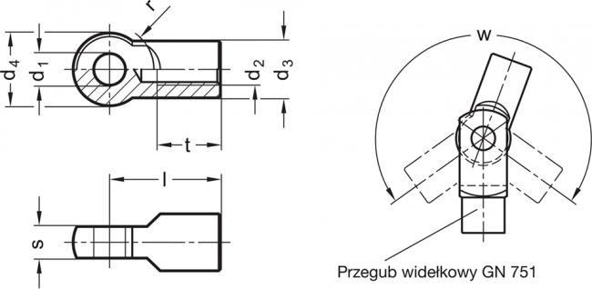 Elementy przegubowe GN 752