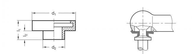 Osłony przegubów kulowych GN 710