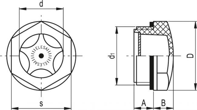 Wskaźnik poziomu HFTX - rysunek techniczny