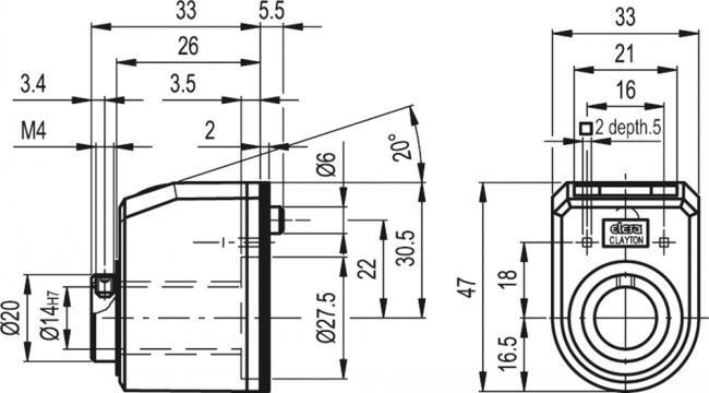 Wskaźniki położenia DD51 - rysunek techniczny