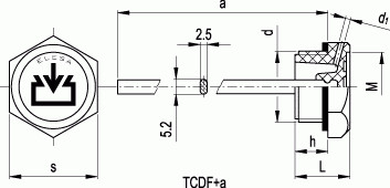 Korki TCDF+A calowe
