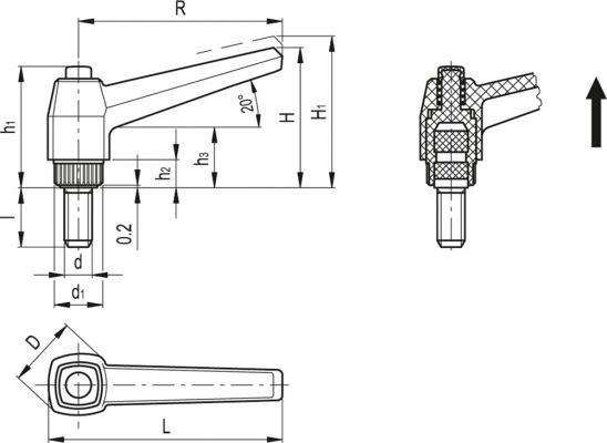 Dźwignie nastawne MRX-SST-p