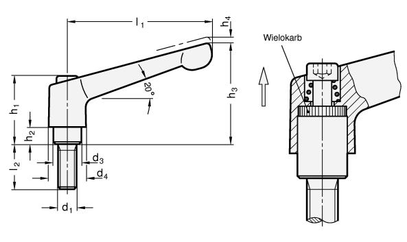 Mini-dźwignie nastawne GN 300.1