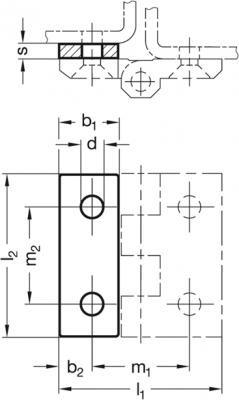 Podkładki dystansowe ze stali nierdzewnej GN 2370