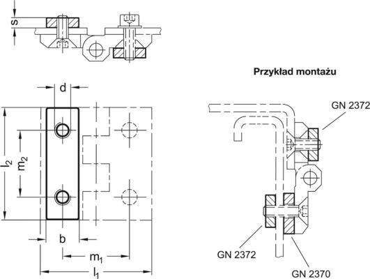 Płytki dystansowe z otworami gwintowanymi GN 2372