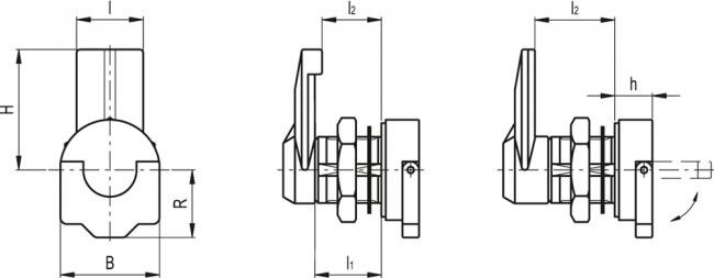 Zamki ze składanym pokrętłem CMT.AE-V0