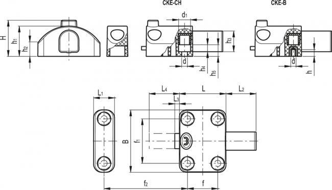 Zamki CKE - rysunek techniczny