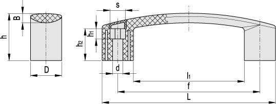 Uchwyty EBP - rysunek techniczny