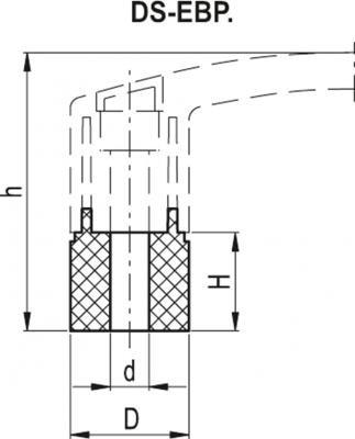 Tuleje dystansowe do uchwytów EBP. DS-EBP. - rysunek techniczny