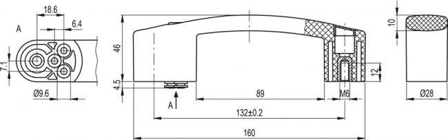Uchwyt z pneumatycznym zaworem rozdzielającym EBR-PN
