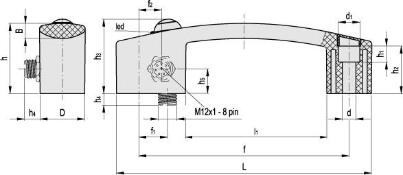 Uchwyt z wbudowanym mikroprzełącznikiem EBR-SW