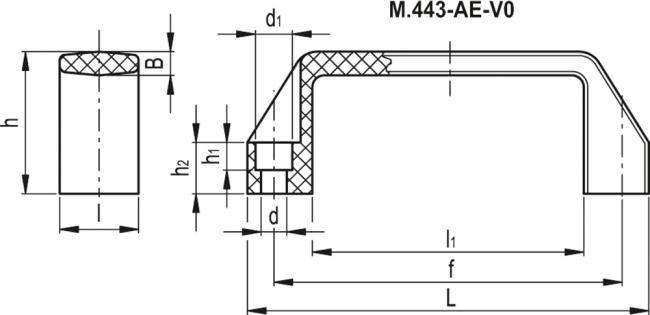 Uchwyty M.443 AE-V0