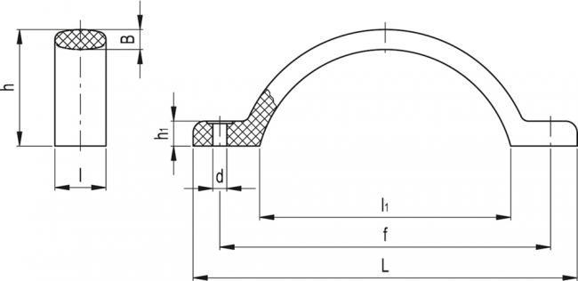 Uchwyty M.478 - rysunek techniczny