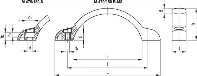 Uchwyty M.479 - rysunek techniczny
