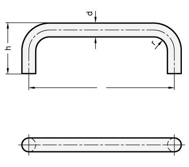 Uchwyty GN 425.3-NI - rysunek techniczny