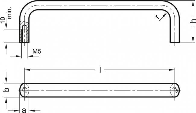 Uchwyty GN 427 - rysunek techniczny