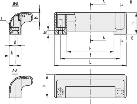 Uchwyty bezpieczne M.990 - rysunek techniczny