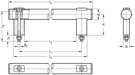 Uchwyty rurowe GN 666.1 - rysunek techniczny