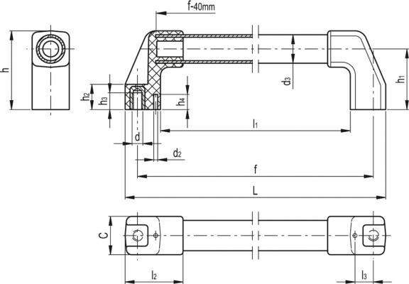 Uchwyty rurowe o wysokiej oporności elektrycznej M.1043-HEI