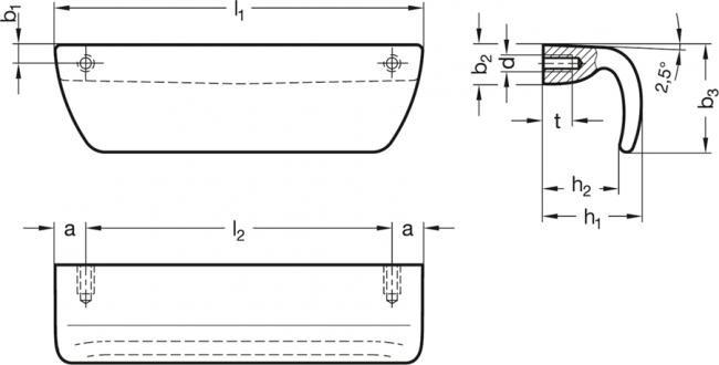 Uchwyt bezpieczny ze stali nierdzewnej GN 730.5