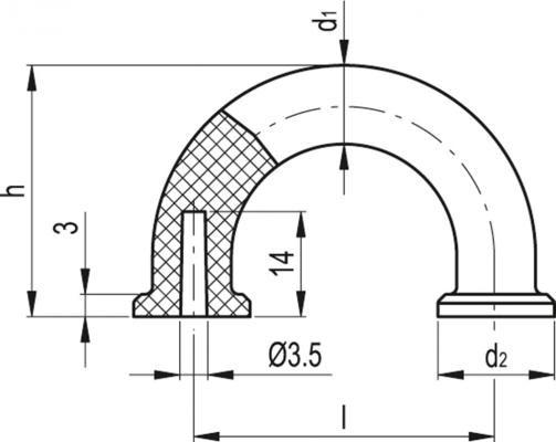 Uchwyty pod palec MFH - rysunek techniczny