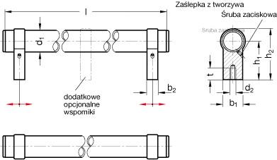 Uchwyty rurowe GN 333.3 - rysunek techniczny