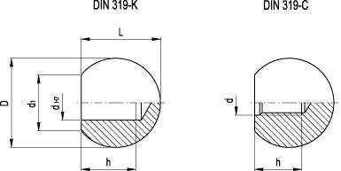 Gałki kuliste DIN 319