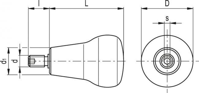 Rękojeści obrotowe dwustopniowe IEL+x SOFT