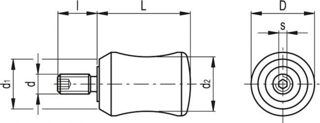 Rękojeści obrotowe I.731+x