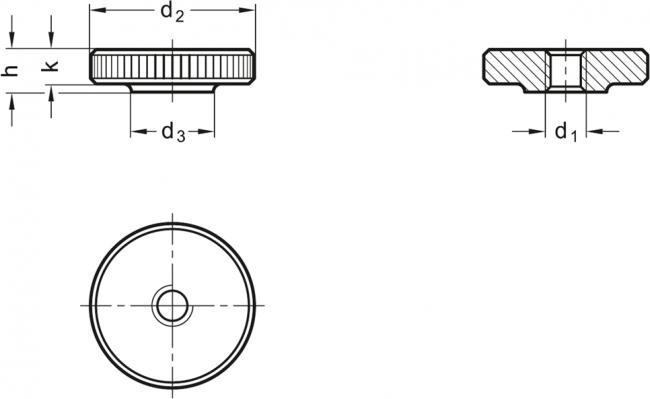 Nakrętki radełkowane DIN 467