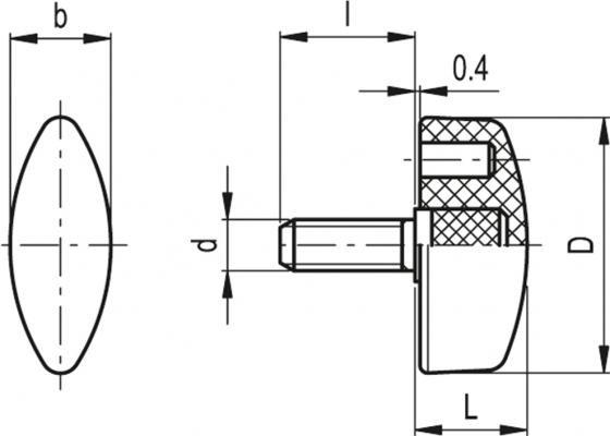 Śruby motylkowe CT.476-SST-p