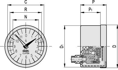 Analogowe wskaźniki obrotów z napędem przymusowym PA11 PA12