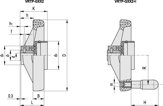 Koła ręczne dwuramienne VRTP-XX