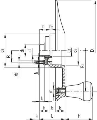 Koła ręczne sterujące EWW-XX - rysunek techniczny