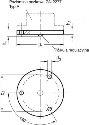 Podkładka regulacyjna do poziomic oczkowych GN 2277.1
