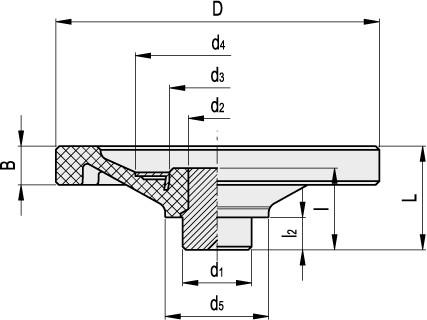 Koła ręczne pełne VD.FP-SST