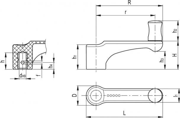 Mini korbki ERFW+I - rysunek techniczny