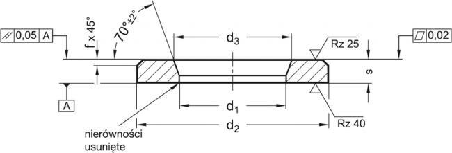 Podkładki wzmocnione GN 6339 - rysunek techniczny