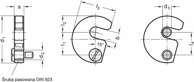 Podkładki obrotowe DIN 6371