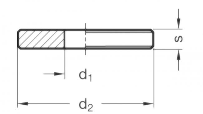 Podkładki pozycjonujące GN 6343 - rysunek techniczny