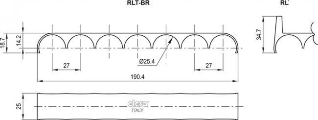 Hamulce do rolek transportowych RLT-B