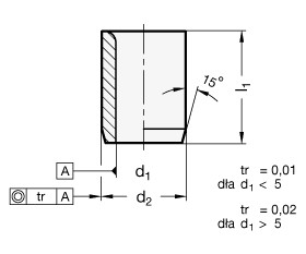 Tuleje pozycjonujące DIN 179 - rysunek techniczny