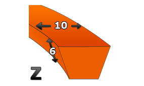Pasy klasyczne Z 10x6