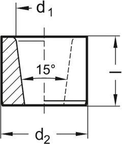 Tuleje pozycjonujące GN 179.1 - rysunek techniczny
