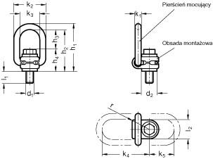 Pierścienie mocujące (obrotowe) GN 586
