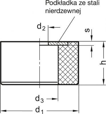 Wibroizolatory GN 454 - rysunek techniczny