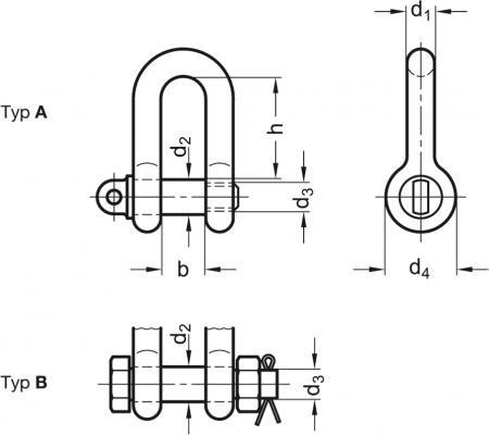 Szekle proste GN 584 - rysunek techniczny